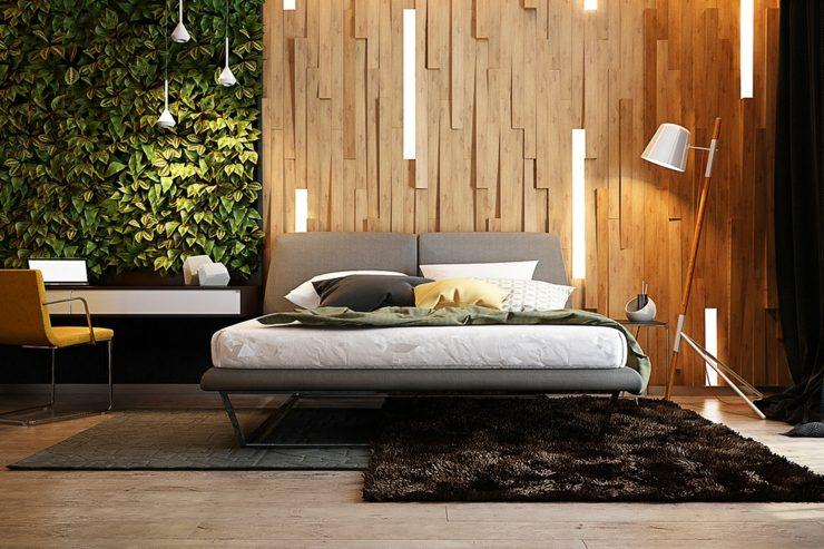 dormitorios decoracion moderna plantas verticales plantas