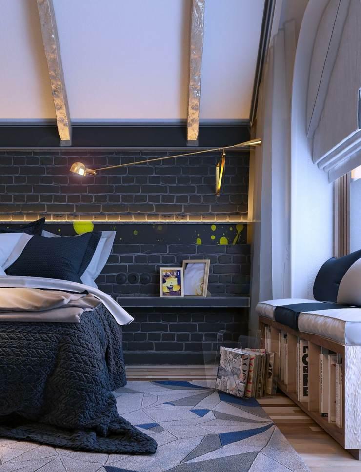 dormitorios decoracion moderna vigas elegantes