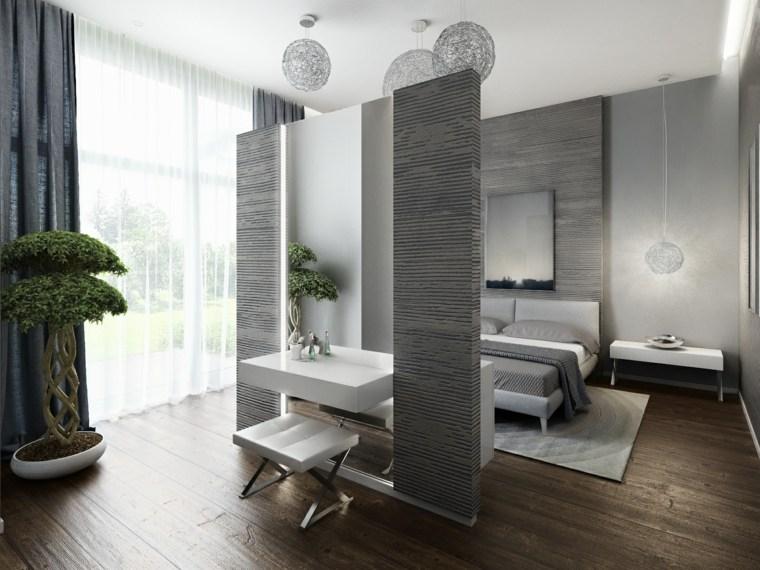 Dormitorios con vestidor y ba o 50 opciones de dise o for Dormitorios minimalistas pequenos