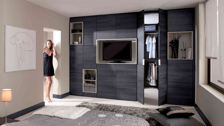 dormitorios con vestidor y ba o 50 opciones de dise o. Black Bedroom Furniture Sets. Home Design Ideas