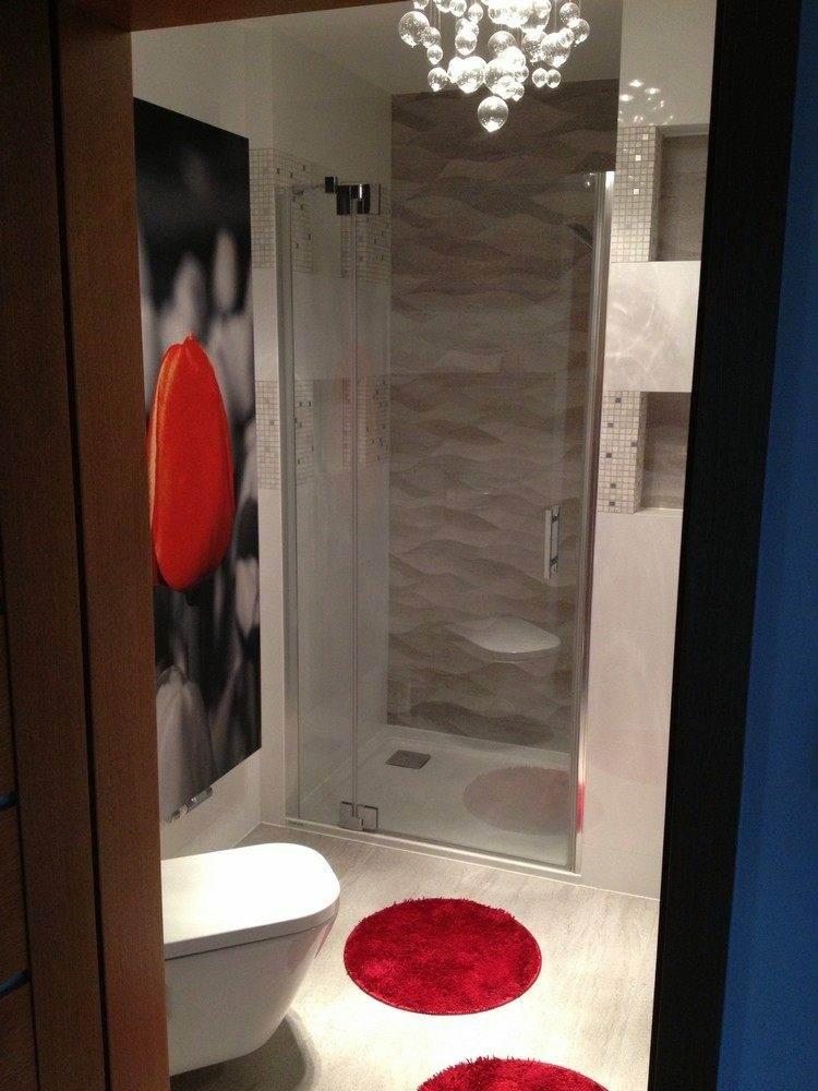 duchas opciones banos pequenos alfombras rojas ideas