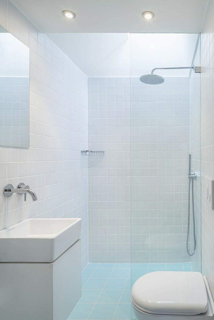 Duchas 50 opciones para ba os peque os - Banos modernos pequenos con ducha ...