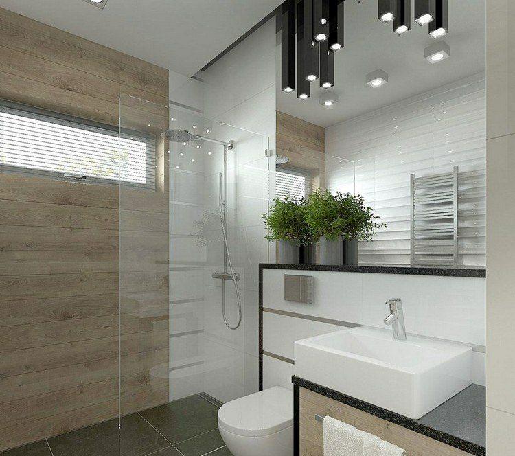 duchas opciones banos pequenos pared madera ideas