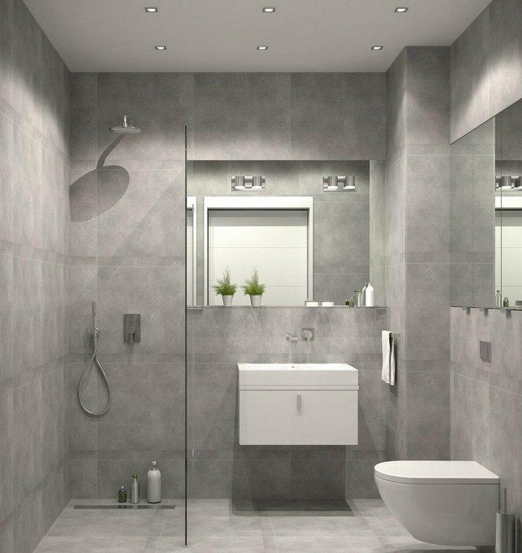 Baños Pequenos Con Ducha De Obra:duchas opciones banos pequenos paredes gris claro ideas