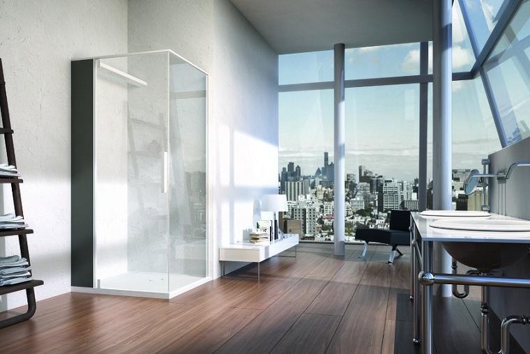 ducho esquina bano moderno diseno ideas