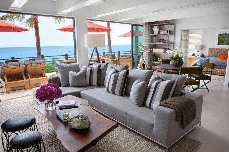 elegantes interiores decorados asientos sombrillas soluciones