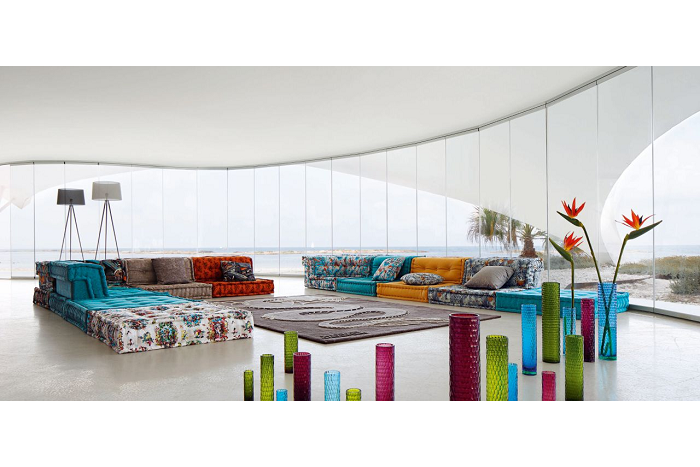 elegantes salones sociales muebles estilos salas flores