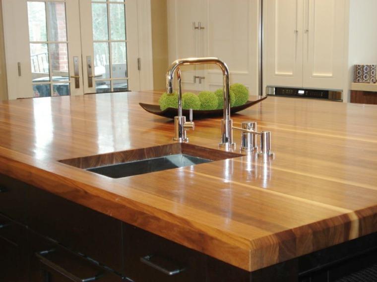 encimera madera diseño moderno lisa