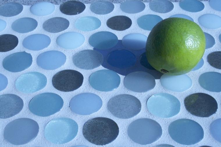 encimera cocina modena circulos azules