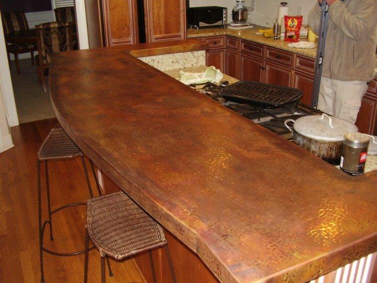 encimera cocina cobre oprogional diseño