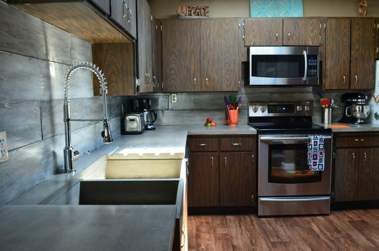 encimeras cocinas modenas madera