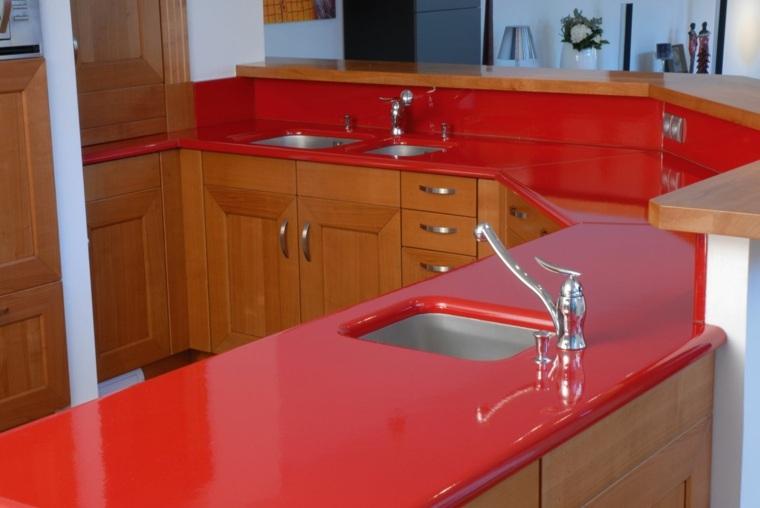 encimeras laminadas greanito rojo