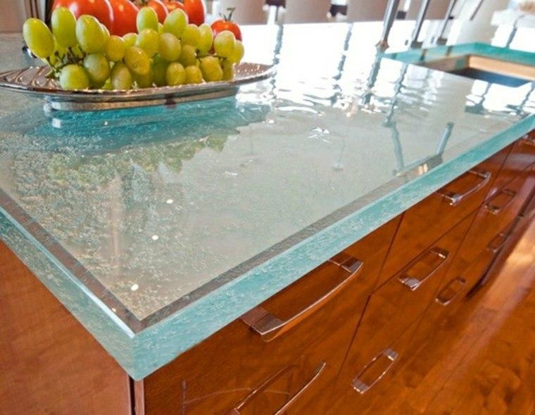 encimeras vidrio diseño moderno