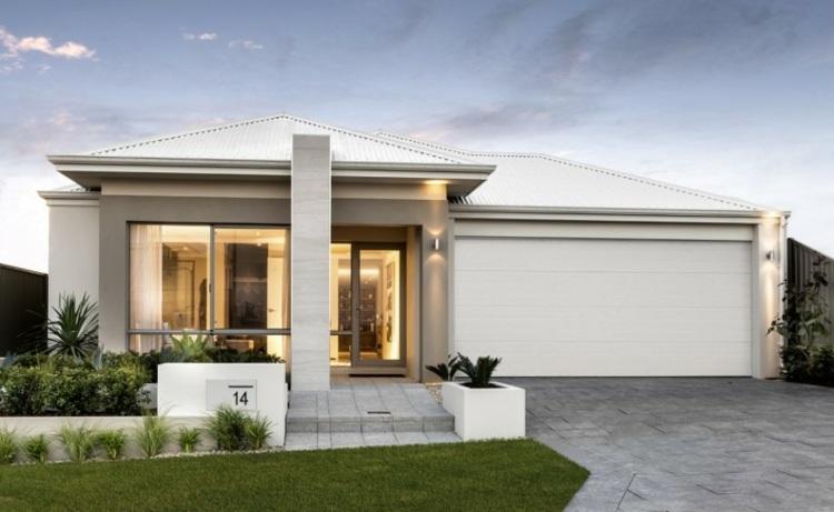 Minimalismo en el jard n 100 dise os paisaj sticos modernos - Entrada de casas modernas ...