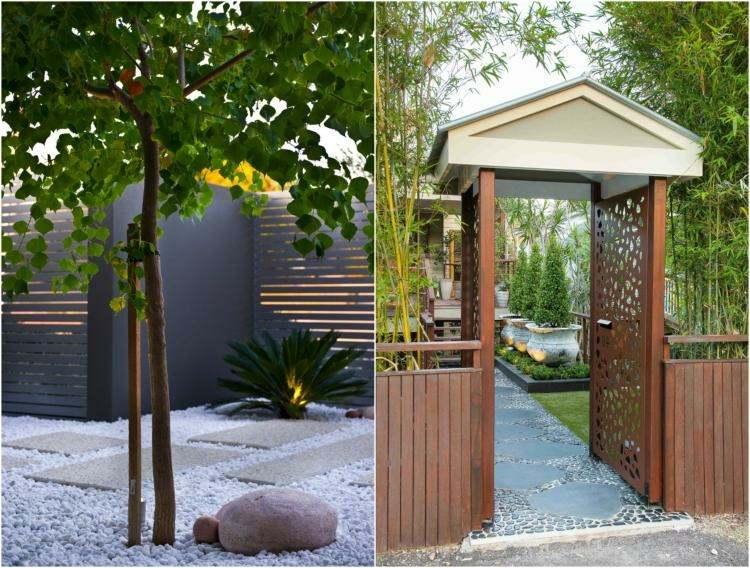 Minimalismo en el jard n 100 dise os paisaj sticos - Entradas modernas decoracion ...