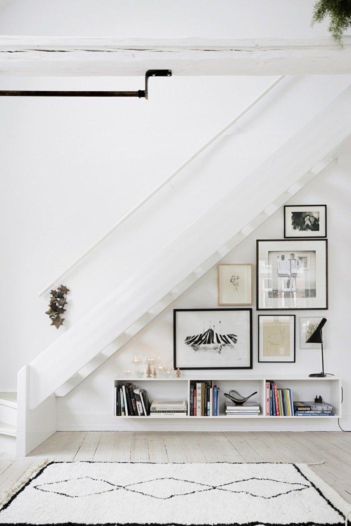 escaleras creatividad cuadros negros plantas
