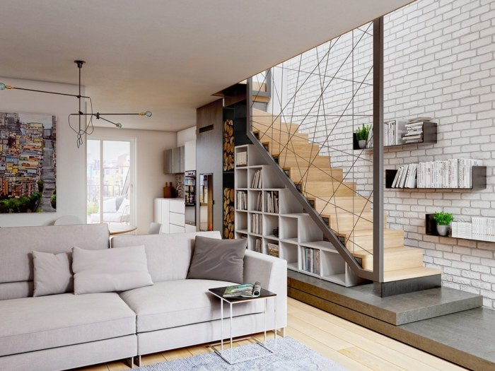 escaleras creatividad libreros pendientes ladrillos