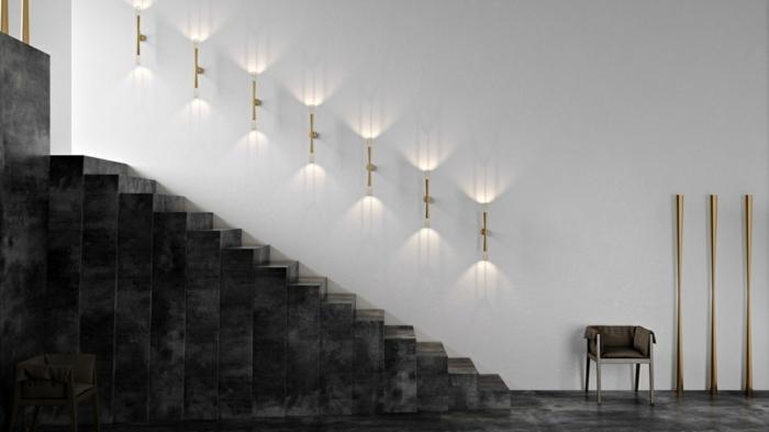 Escaleras creatividad de formas y modelos que rompen la - Luces para escalera ...