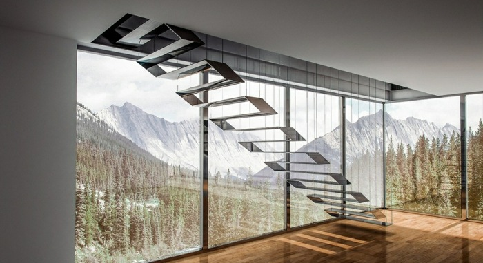 escaleras creatividad listados muebles montañas