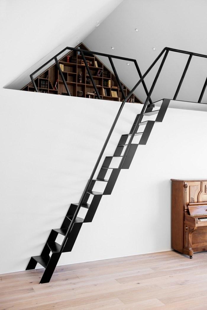 escaleras creatividad negros metales zonas