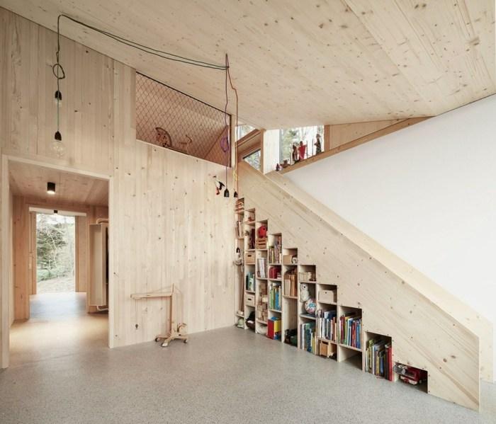 escaleras creatividad salones maderas cables