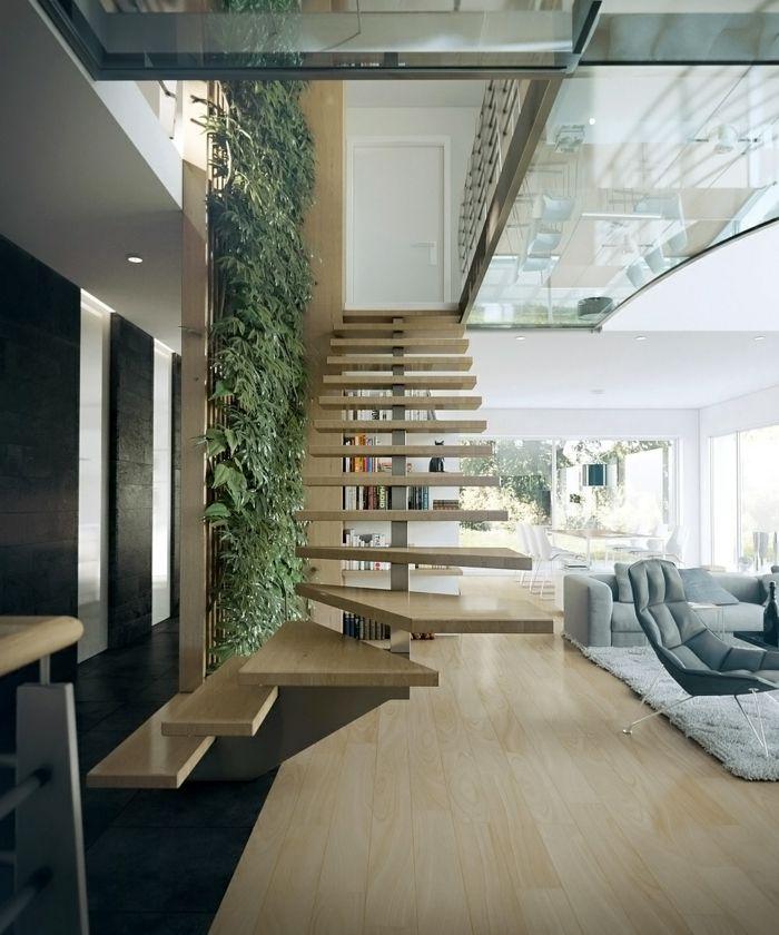 Escaleras creatividad de formas y modelos que rompen la for Salones con escaleras interiores