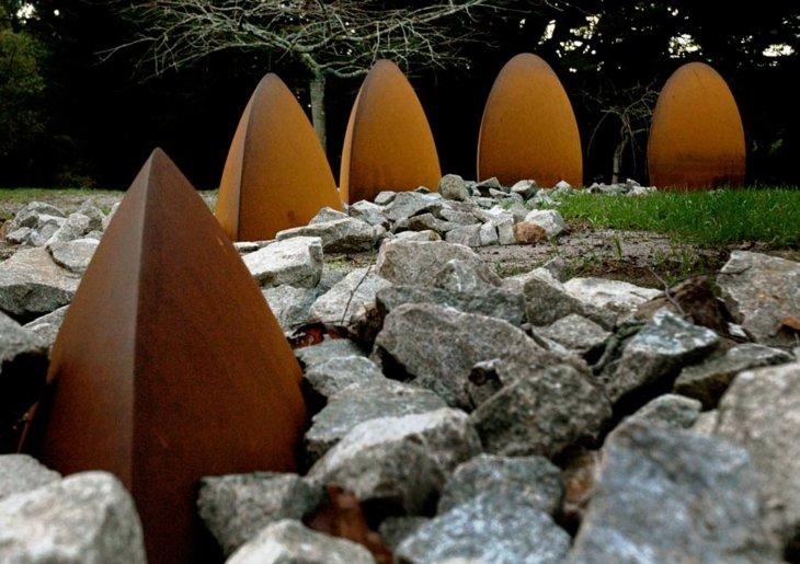 esculturas plantas diseño modernos cesped