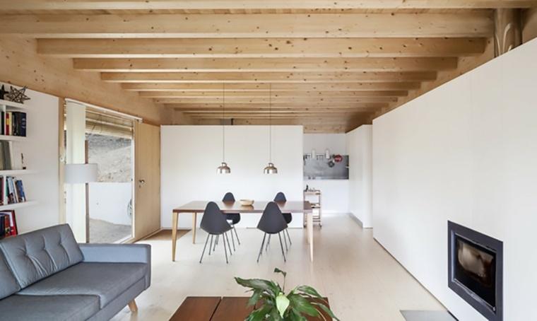 españa casa moderna interior madera