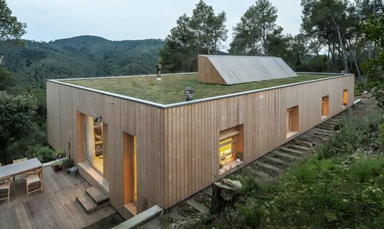 españa casa verde techo vegetal