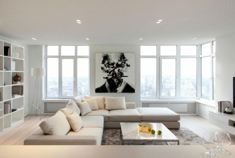 espacio blanco salones preciosos cuadro interesante ideas