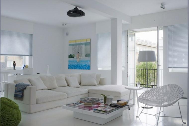 espacio blanco salones preciosos cuadro llamativo ideas