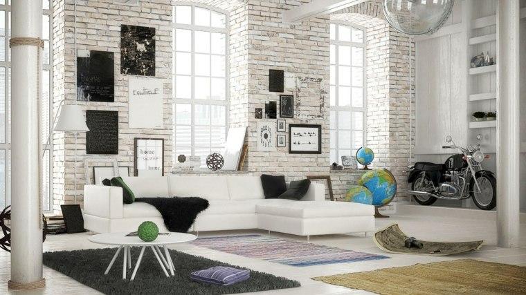 espacio blanco salones preciosos ladrillo blanco ideas