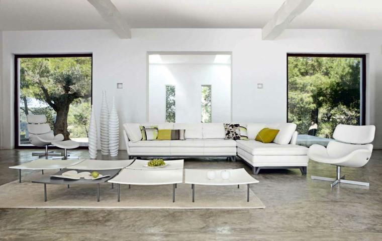 espacio blanco salones preciosos muebles comodos ideas
