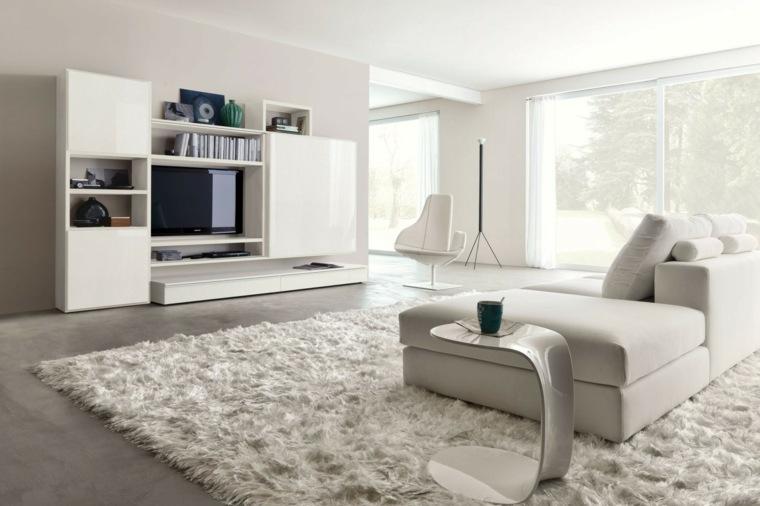 espacio blanco salones preciosos muebles pared ideas