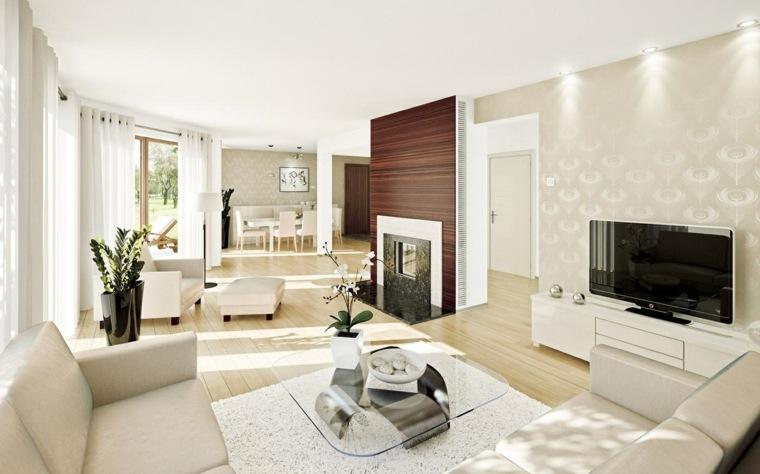 espacio blanco salones preciosos papel pared bonito ideas