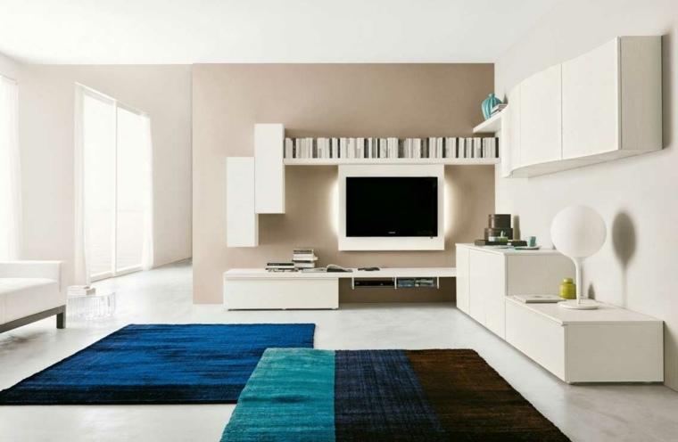 espacio blanco salones preciosos pared beige ideas