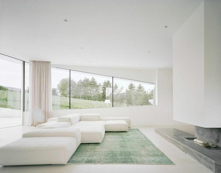 espacio blanco salones preciosos sofa forma original ideas