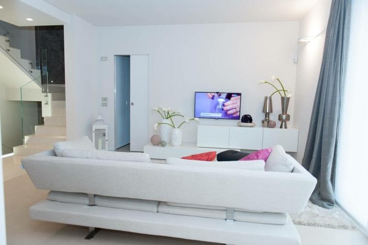 espacio en blanco salones preciosos cojines color ideas