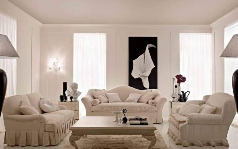 espacio en blanco salones preciosos cuadro negro ideas
