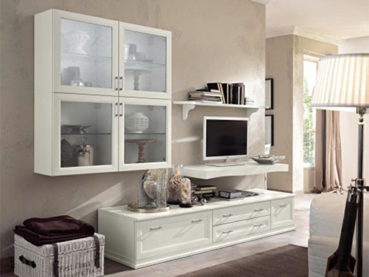 espacio en blanco salones preciosos muebles ideas