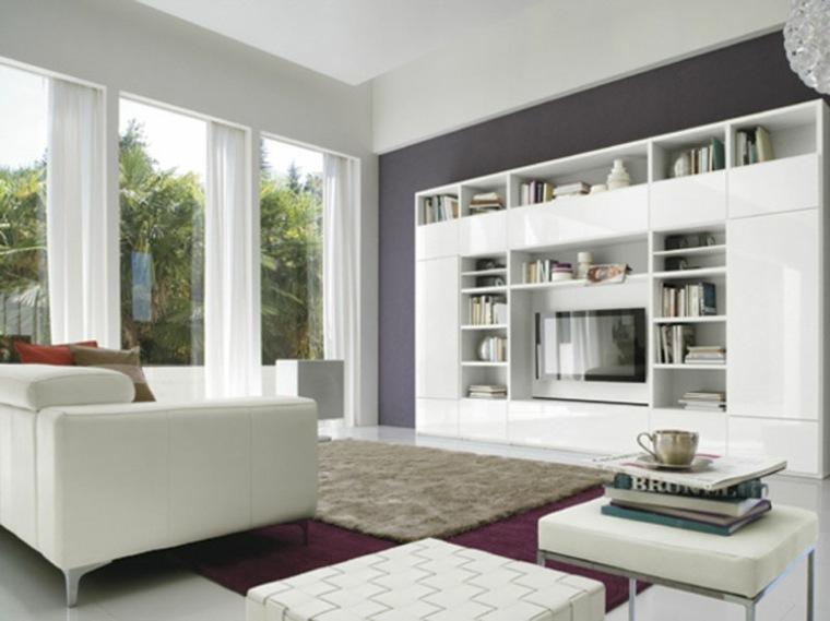 espacio en blanco salones preciosos pared purpura ideas