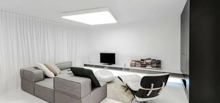 espacio en blanco salones preciosos sofa gris ideas