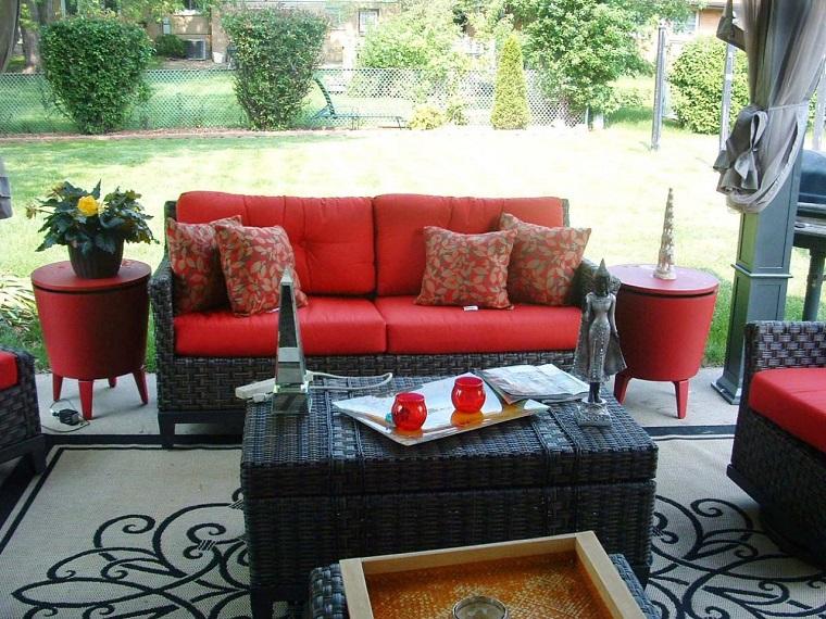 espacios aire libre detalles rojos exterior ideas