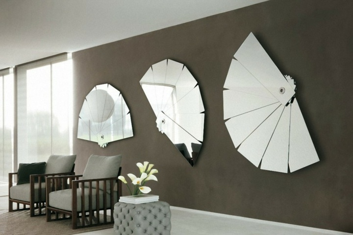 espejos abanicos controles salones flores