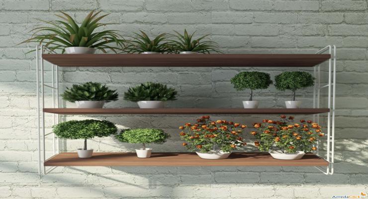Balcones y terrazas peque as cincuenta ideas para decorar - Estantes para macetas ...