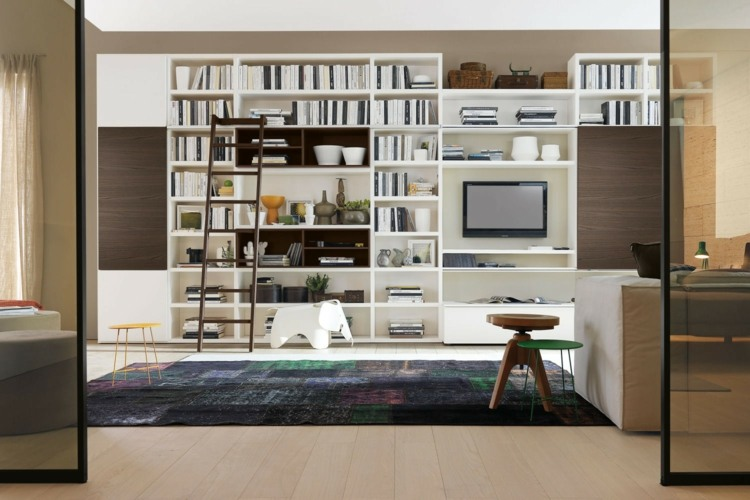 estantes modulares blancos mueble tv