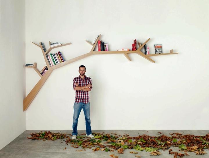estantes casas librero moderno colorido