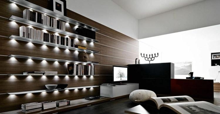 estantes diseño moderno salón