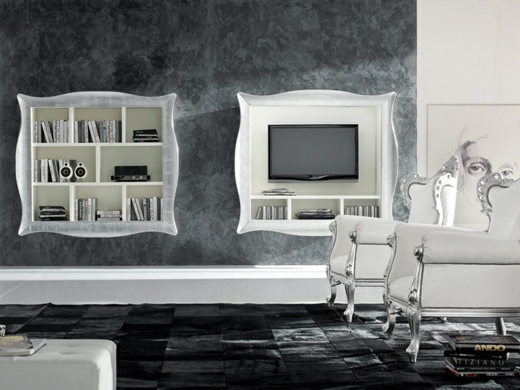 estantes integrados muebles tv