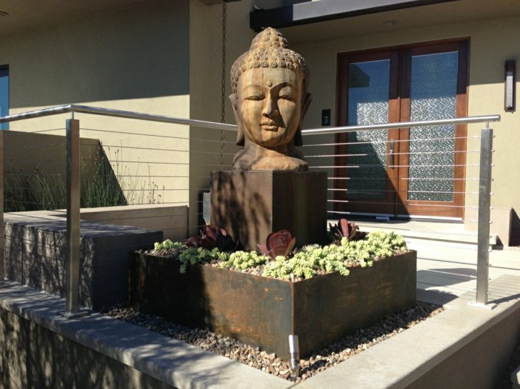 estatuas salones muebles fiables suculentas